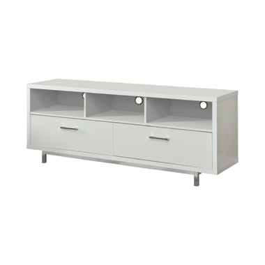 2-drawer Rectangular TV Console White
