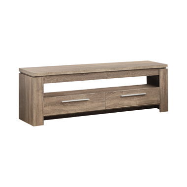 2-drawer TV Console Weathered Brown