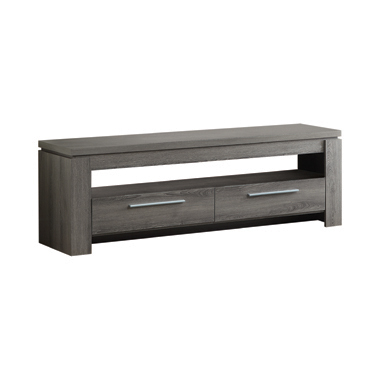 2-drawer TV Console Weathered Grey