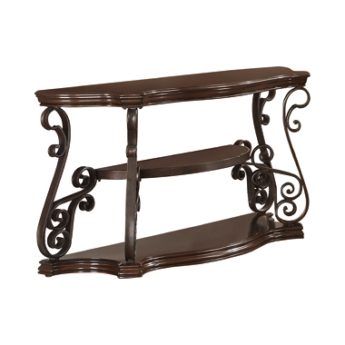 Sir Rawlinson Sofa Table Deep Merlot and Clear