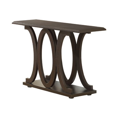C-shaped Base Sofa Table Cappuccino