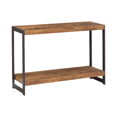 Rectangular Sofa Table Antique Nutmeg and Gunmetal