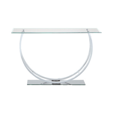U-shaped Sofa Table Chrome