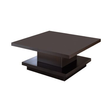 Pedestal Square Coffee Table Cappuccino