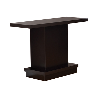 Pedestal Sofa Table Cappuccino