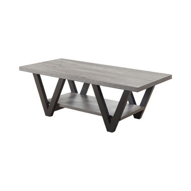 Higgins V-shaped Coffee Table Black and Antique Grey
