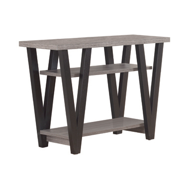 V-shaped Sofa Table Black and Antique Grey