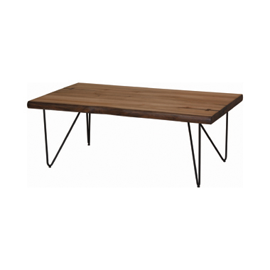 Coffee Table with Hairpin Legs Natural Honey and Gunmetal