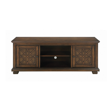 2-door TV Console Golden Brown