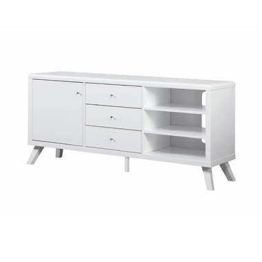 1-door TV Console High Glossy White