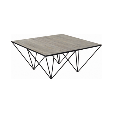 Square Coffee Table White Washed Natural