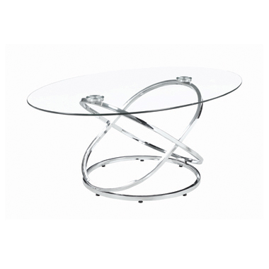 3-piece Occasional Set Chrome and Clear