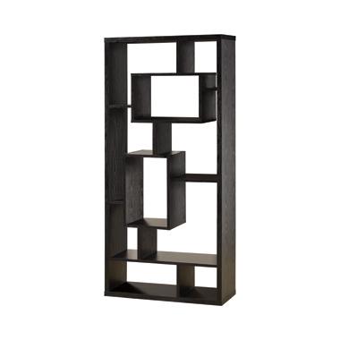 10-shelf Bookcase Black Oak