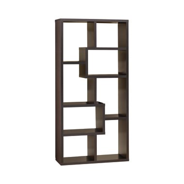 10-shelf Bookcase Cappuccino