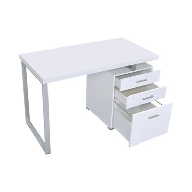 Brennan 3-drawer Office Desk White