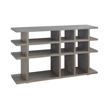 3-tier Bookcase Weathered Grey