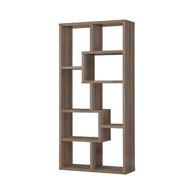 10-shelf Bookcase Weathered Grey