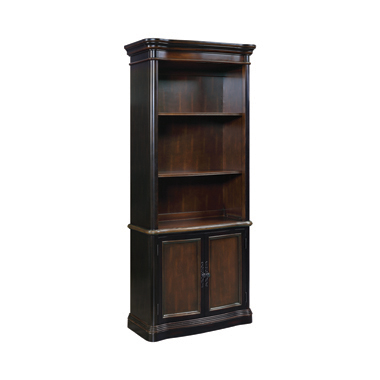 3-tier Bookcase with Cabinet Espresso and Chestnut