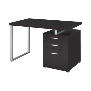 Brennan 3-drawer Office Desk Cappuccino