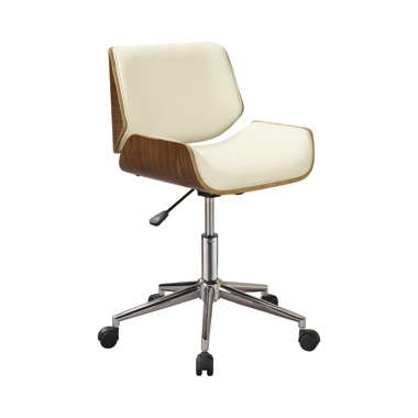 Adjustable Height Office Chair Ecru and Chrome