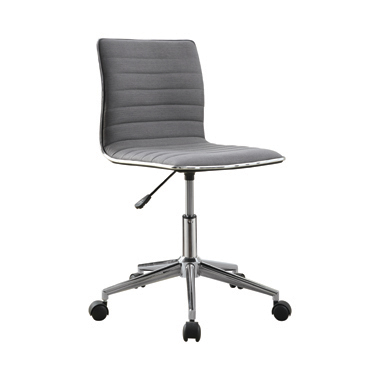 Adjustable Height Office Chair Grey and Chrome