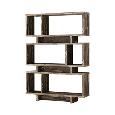 3-tier Geometric Bookcase Salvaged Cabin