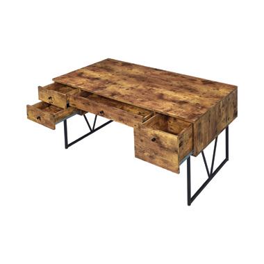 Analiese 4-drawer Writing Desk Antique Nutmeg