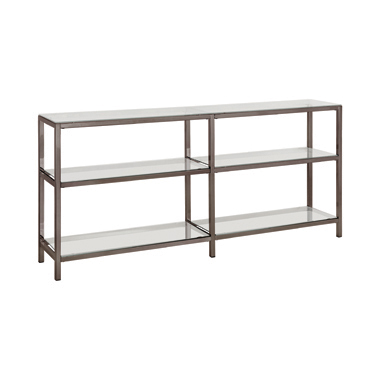 2-tier Bookcase Black Nickel