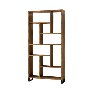10-shelf Bookcase Antique Nutmeg
