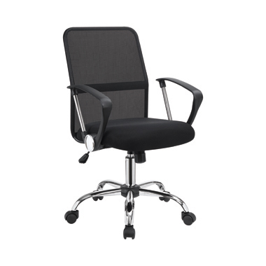 Office Chair with Mesh Backrest Black and Chrome
