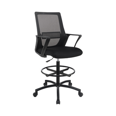 Adjustable Height Drafting Chair Black