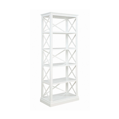 Johansson 5-shelf Bookcase Antique White