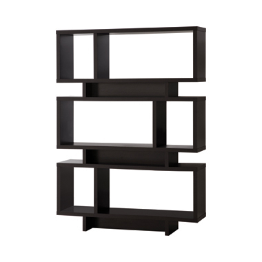 3-tier Geometric Bookcase Cappuccino