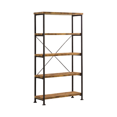 Analiese 4-shelf Bookcase Antique Nutmeg