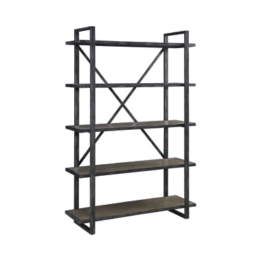 Henderson 5-shelf Bookcase Weathered Elm