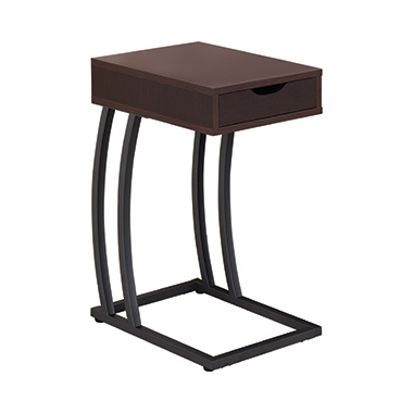 Accent Table with Power Outlet Cappuccino