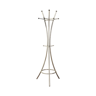12-Hook Coat Rack Chrome