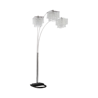 Crystal Drop Shade Floor Lamp Chrome