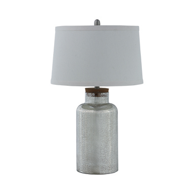 Empire Shade Table Lamp Antique Speckle and White