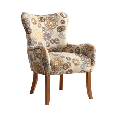 Upholstered Accent Chair with Tapered Legs Multi-color