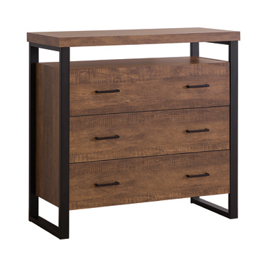 3-drawer Accent Cabinet Rustic Amber