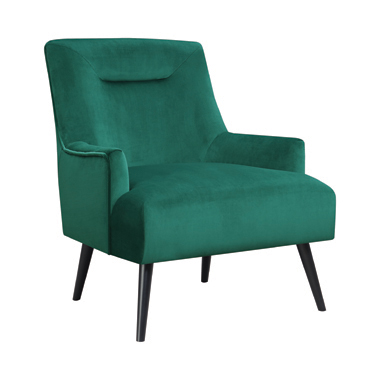 Upholstered Accent Chair Green and Black