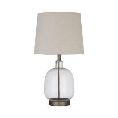Empire Table Lamp Beige and Clear