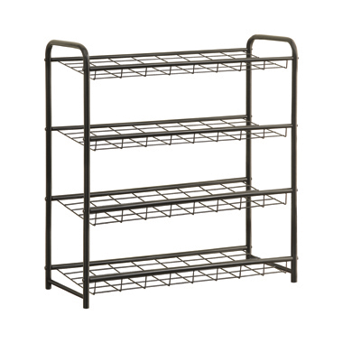 4-shelf Metal Shoe Rack Black