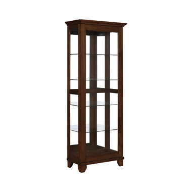 5-shelf Curio Cabinet Chestnut and Clear
