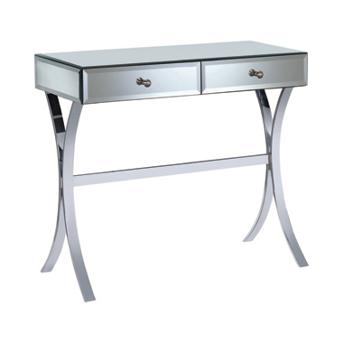 2-drawer Console Table Clear Mirror