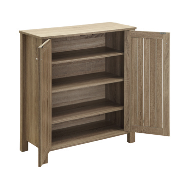 4-shelf Shoe Cabinet Dark Taupe