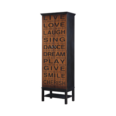 2-door Accent Cabinet Rich Brown and Black