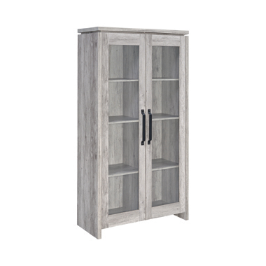 2-door Tall Cabinet Grey Driftwood