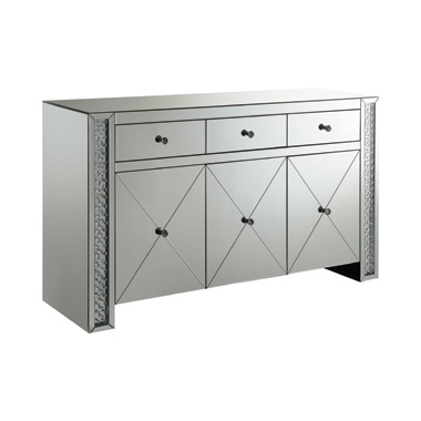 Fueyes 3-drawer Accent Cabinet Silver